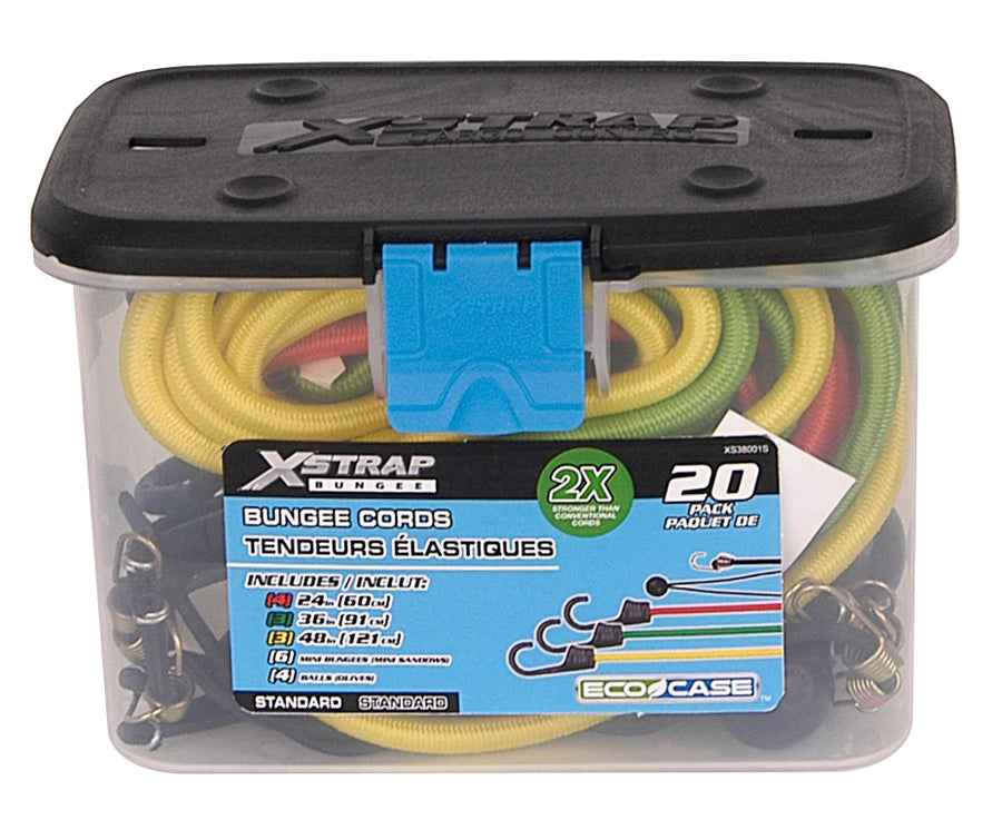 X-Strap Bungee Cord Set - 20 Piece Maintenance Supplies - Cleanflow