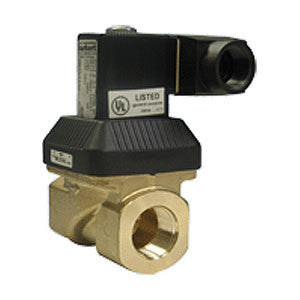 "Hallett 30 | 1-1/2"" Brass Solenoid Shut-Off Valve 
