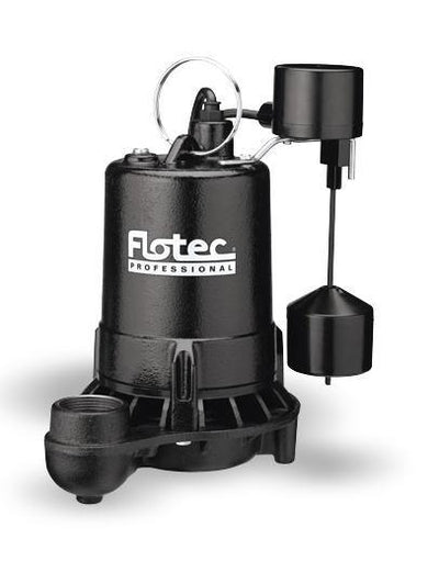 Flotec E75VLT Cast Iron Sump Pump | 3/4 HP | 120V Dewatering Pumps - Cleanflow