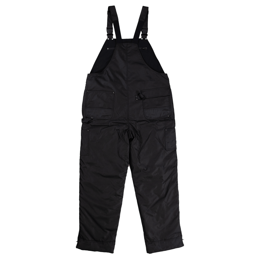 Tough Duck 7910 Insulated Waterproof Poly Oxford Bib Overalls | Black | S-5XL Work Wear - Cleanflow