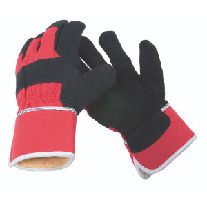 Acrylic Fleece Lined Split Cowhide Winter Gloves Work Gloves and Hats - Cleanflow