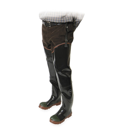 Acton Protecto Industrial Rubber Safety Hip Waders | Sizes 7-13 Work Boots - Cleanflow