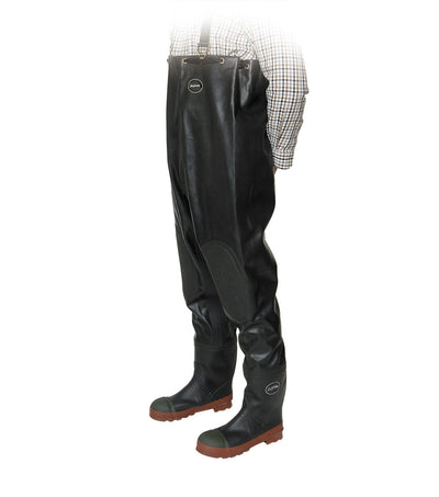 Acton Protecto Premium Industrial Rubber Safety Chest Waders | Sizes 7-13 Work Boots - Cleanflow