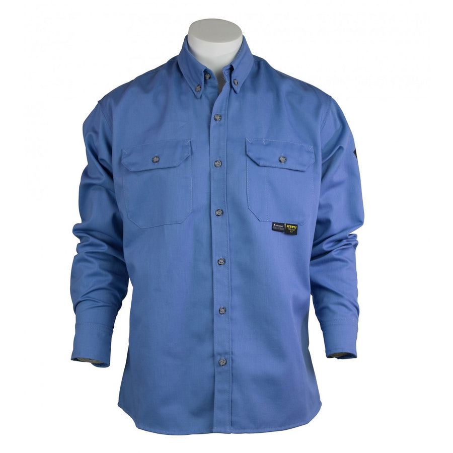 KELTEK A7938S 7oz Flame Resistant Work Shirt | Blue | S-5XL (HRC 2)
