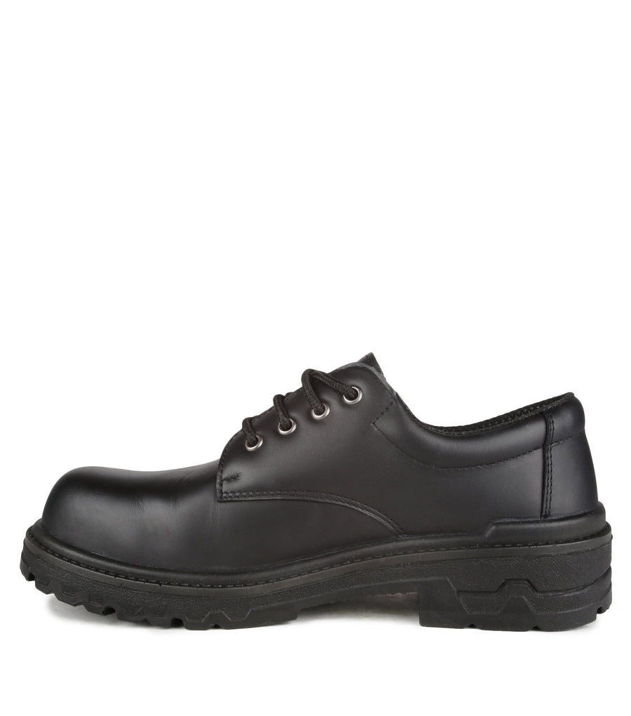 Acton Protector Leather Safety Work Shoes | Black | Size 3 - 17 Work Boots - Cleanflow