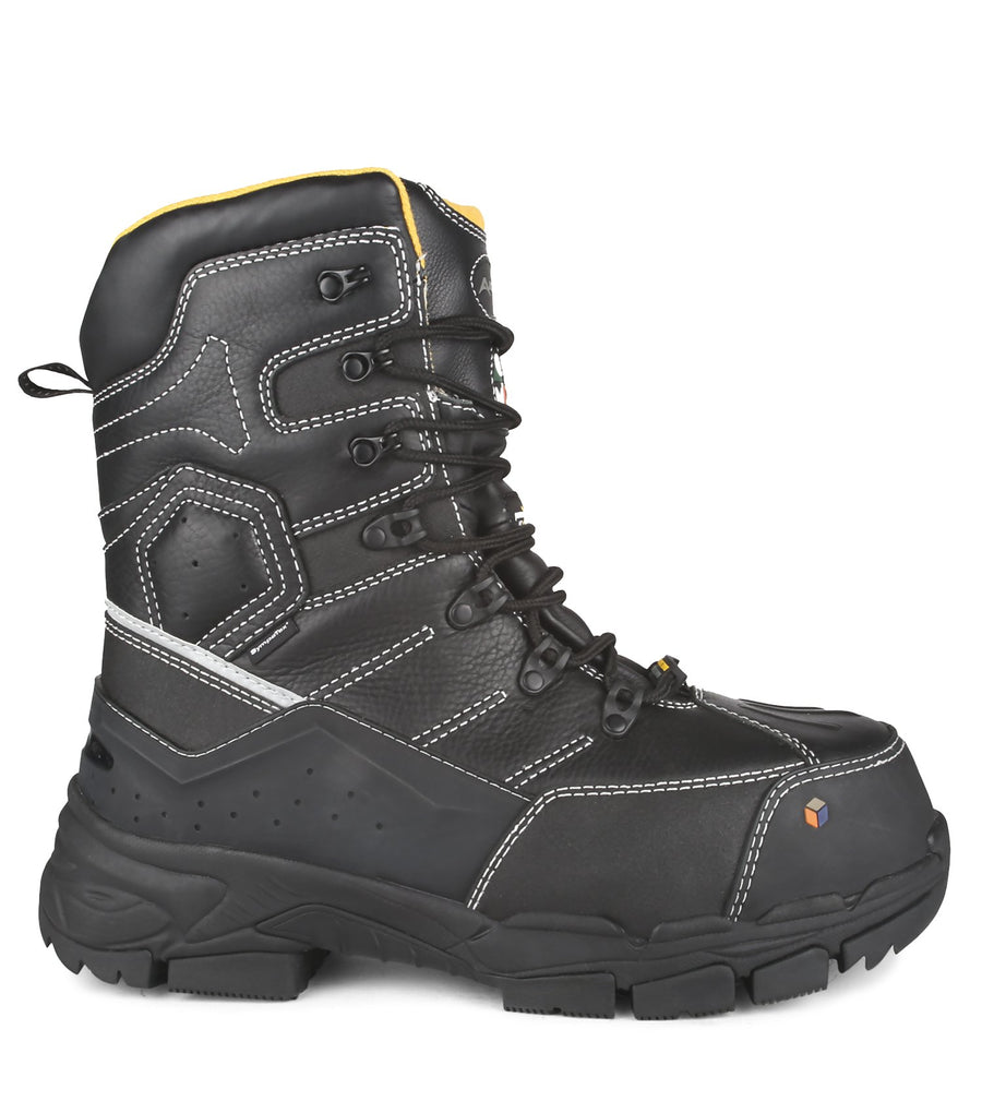 "Acton Cannonball 8"" Men's Composite Toe Internal Metguard Winter Safety Work Boots 