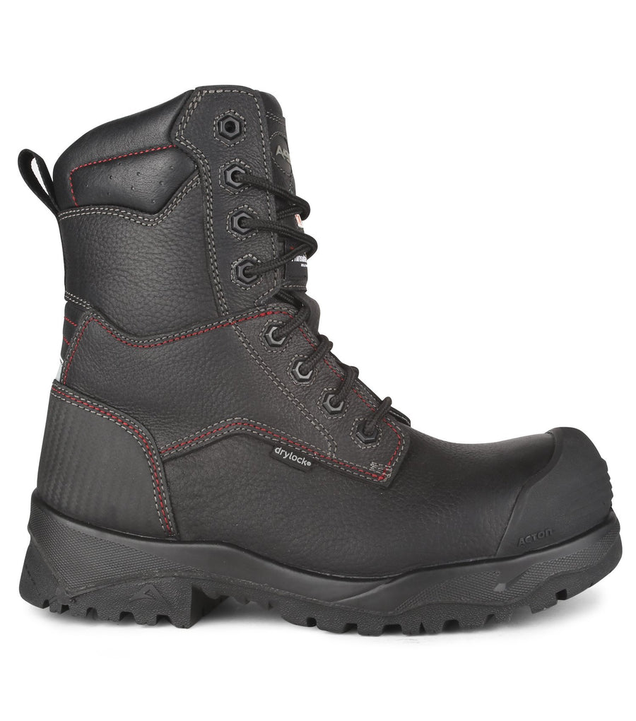"Acton Magnetic 8"" Waterproof Thinsulate Lined Winter Work Boots 