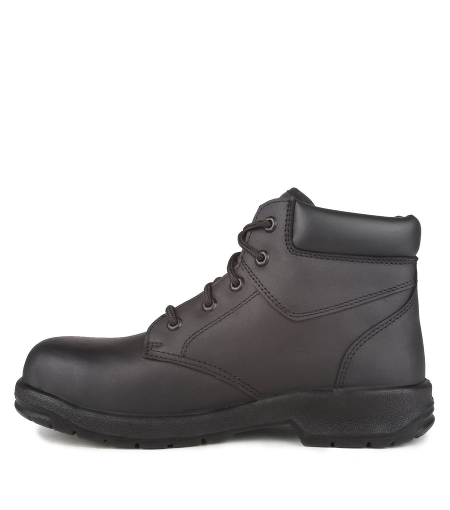 "Acton ProFar 6"" Men's Black Leather Steel Toe Safety Work Boots 
