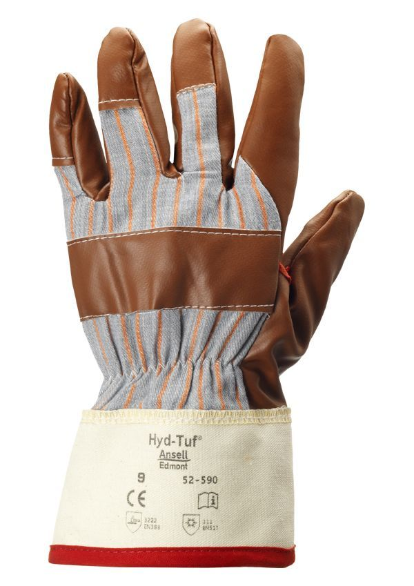 Ansell 52-590 Winter Hyd-Tuf Nitrile Coated Work Gloves Work Gloves and Hats - Cleanflow
