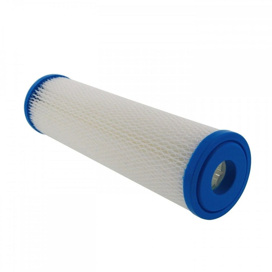"Excelpure 20"" x 4.5"" OD Big Blue Pleated Polyester Water Filters - 5 Micron"