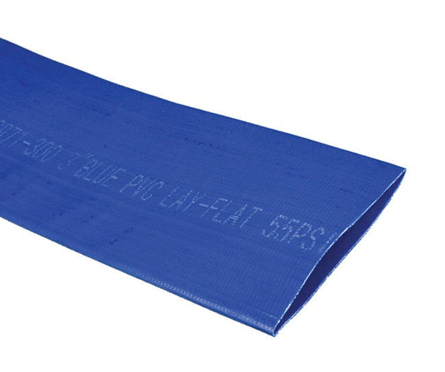 Blue PVC Layflat Discharge Hose (Hose Only - No Ends)