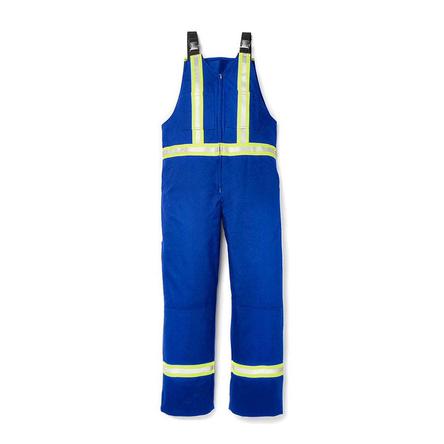Rasco FR Bib Overall with Reflective Trim | Royal Blue | S-3XL Flame Resistant Work Wear - Cleanflow