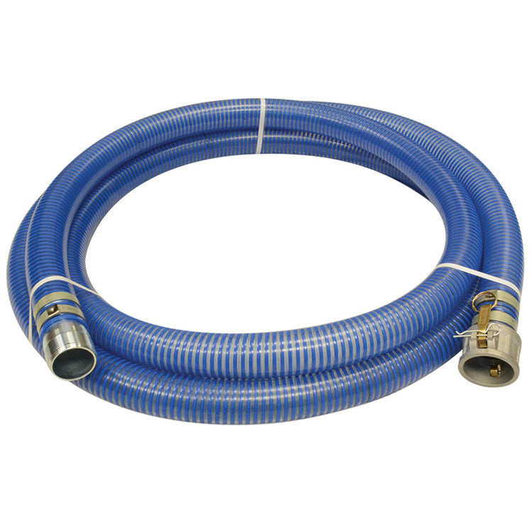 Blue Water Low Temperature PVC Pump Suction Hose Assemblies Hose and Fittings - Cleanflow