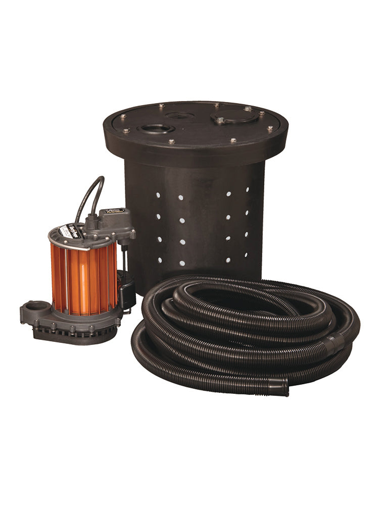 Liberty CSP-237-2 Crawl Space Sump Kit  | 1/3 Hp | 120V Dewatering Pumps - Cleanflow