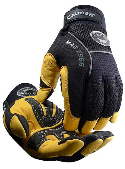 Caiman 2956 Gold Grain Leather Multi-Activity Gloves Work Gloves and Hats - Cleanflow