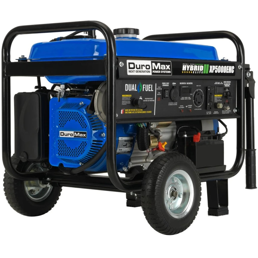 Duromax Electric Start Dual Fuel Hybrid Portable Generator | 7.5 HP - 5,000 Watts