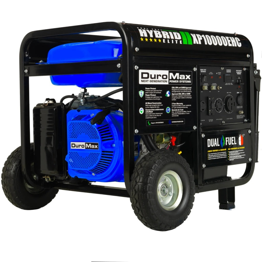 Duromax Electric Start Dual Fuel Hybrid Portable Generator | 18.0 HP - 10,000 Watts