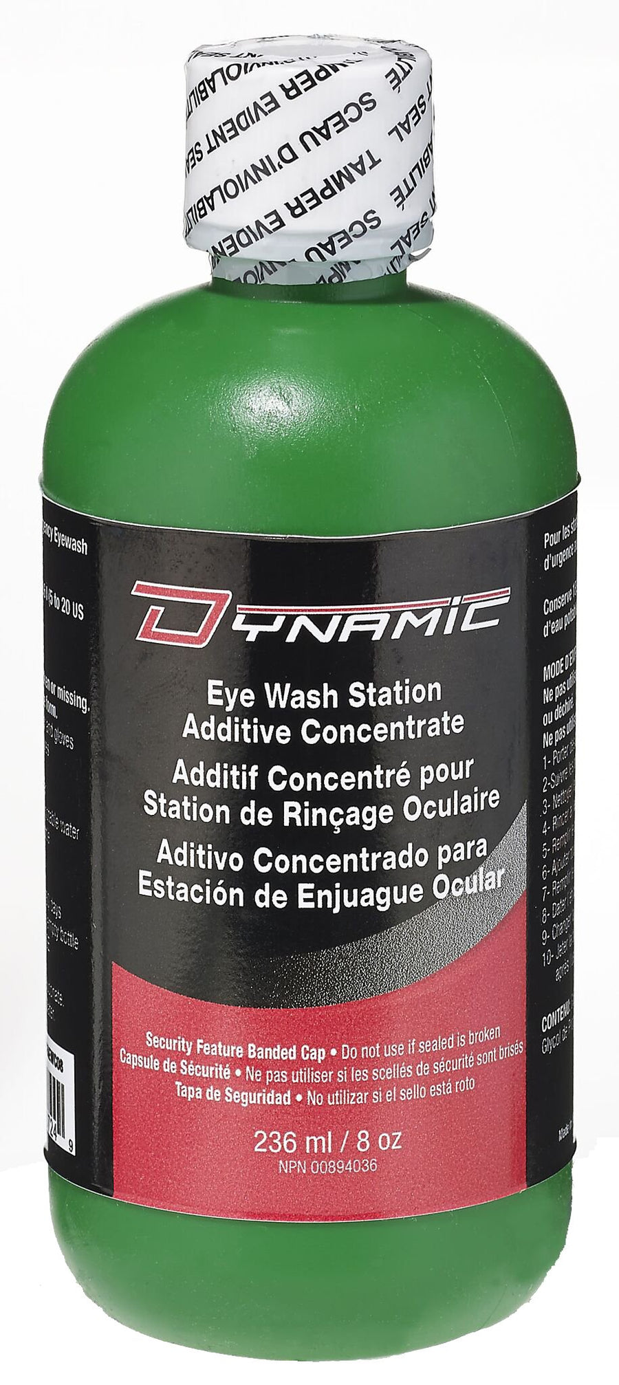 Dynamic Eye Wash Station Bacteriostatic Additive  | 8 oz Facility Safety - Cleanflow