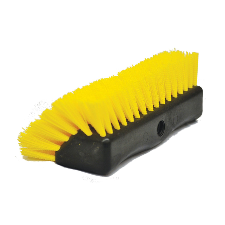 "Extra Stiff Flow-Thru Bi-Level Scrubbing Brush | 10"" Width"