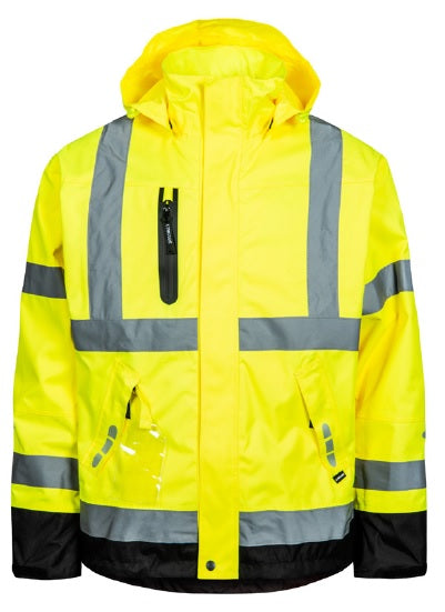 Lyngsoe FOX9057 Breathable Rain Jacket | Yellow/Black | Sizes XS - 5XL