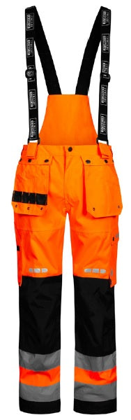 Lyngsoe FOX9083 Breathable Rain Trouser | Orange/Black | Sizes XS - 5XL