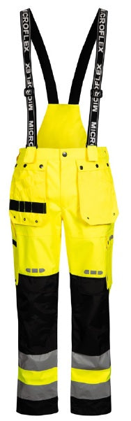 Lyngsoe FOX9083 Breathable Rain Trouser | Yellow/Black | Sizes XS - 5XL