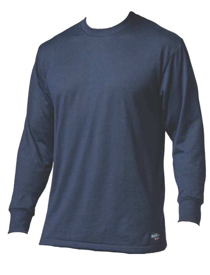 Stanfield's FR24 Long Sleeve Tee | Navy | Small-3XLarge Flame Resistant Work Wear - Cleanflow