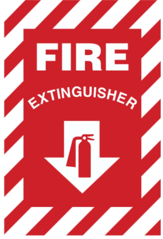 Fire Extinguisher Sign - Various Sizes and Materials Facility Safety - Cleanflow