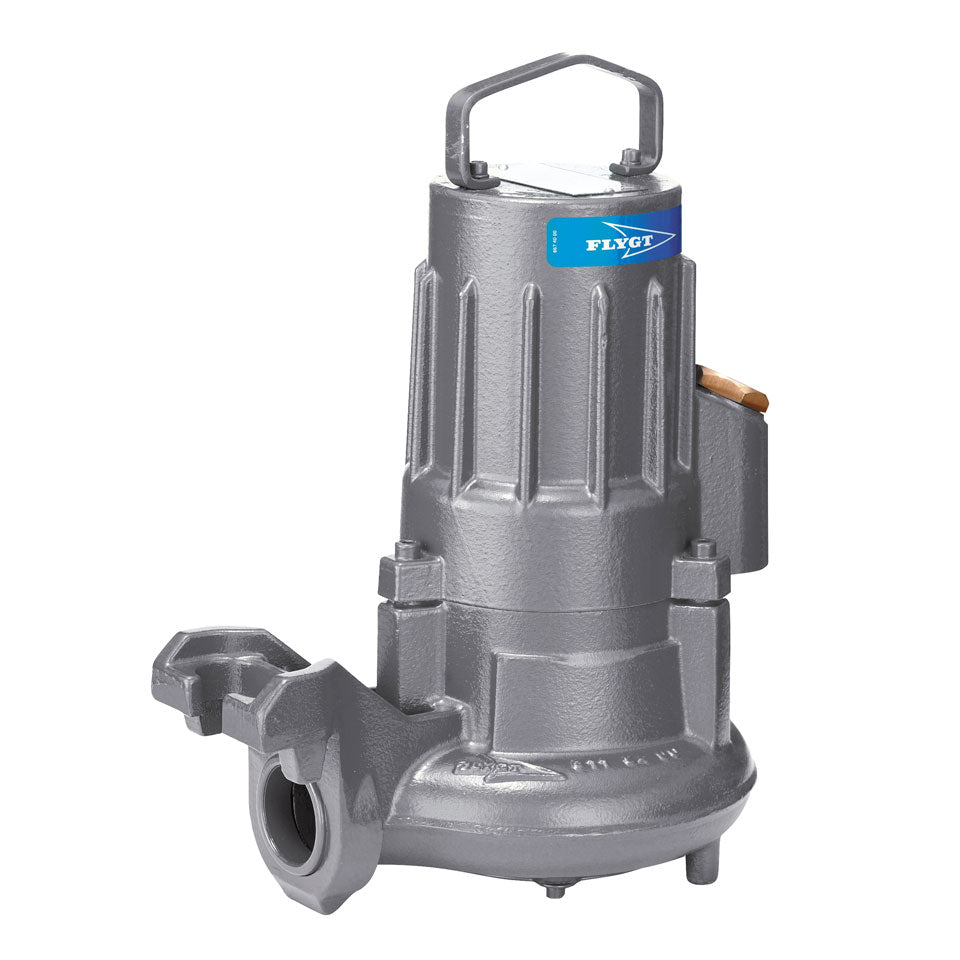 Flygt Vortex Impeller D 3045 Compact Wastewater Pump - 1.8 HP - 600V - 3 Phase Sewage and Trash Pumps - Cleanflow
