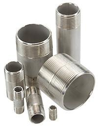 "Stainless Steel Sch 40 Threaded Pipe Nipples | 1/8"" NPT to 3"" NPT 
