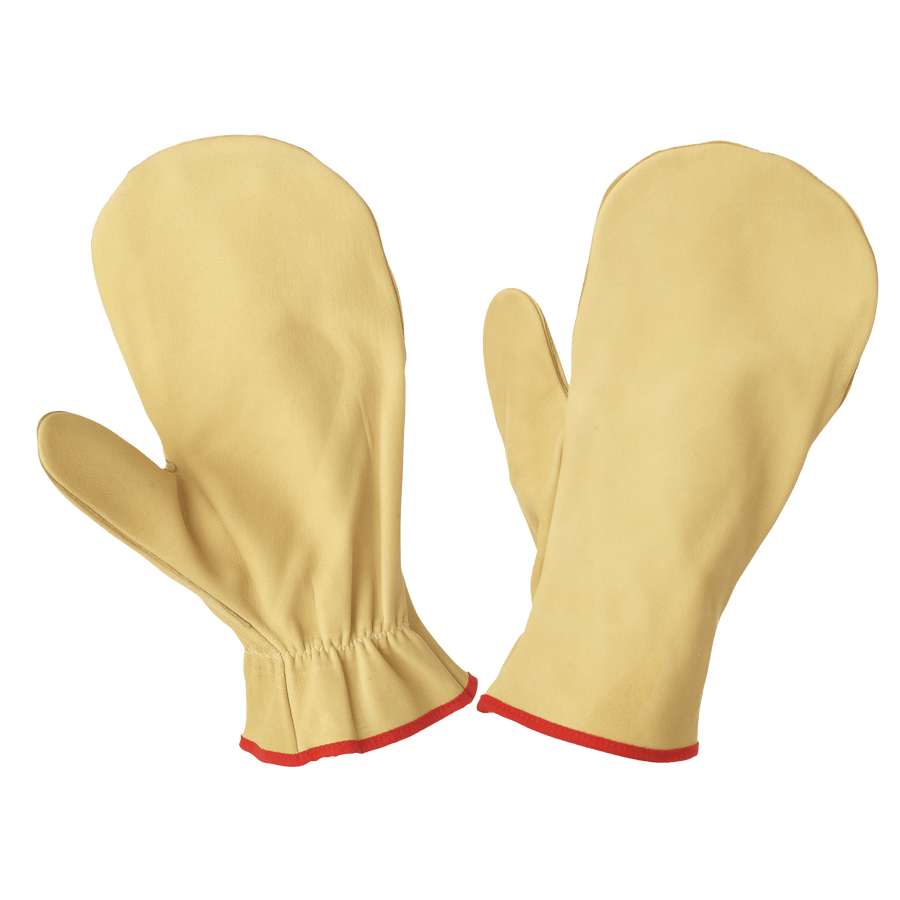 Tough Duck Unlined Leather Chopper Mitt - Limited Size Selection Work Gloves and Hats - Cleanflow
