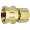 Brass Compression Female Connector Tubing and Fittings - Cleanflow