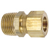 Brass Compression Male Connector Tubing and Fittings - Cleanflow