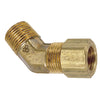 Brass Compression 45° Male Pipe Connector Elbow Tubing and Fittings - Cleanflow