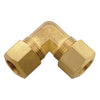 Brass Compression 90° Union Elbow Tubing and Fittings - Cleanflow