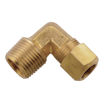 Brass Compression 90° Male Pipe Connector Elbow Tubing and Fittings - Cleanflow