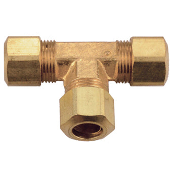 Brass Compression Union Tee Tubing and Fittings - Cleanflow