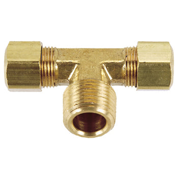 Brass Compression Male Branch Tee Tubing and Fittings - Cleanflow