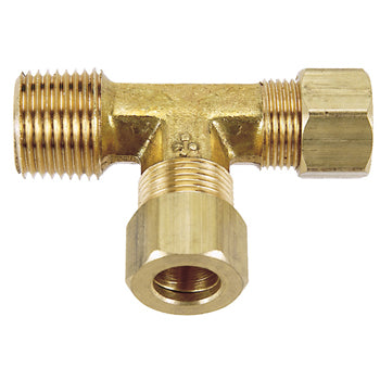 Brass Compression Male Run Tee Tubing and Fittings - Cleanflow