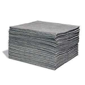 SpillTech Universal Contractor Grade Spill Pads - Pack of 100 Facility Safety - Cleanflow
