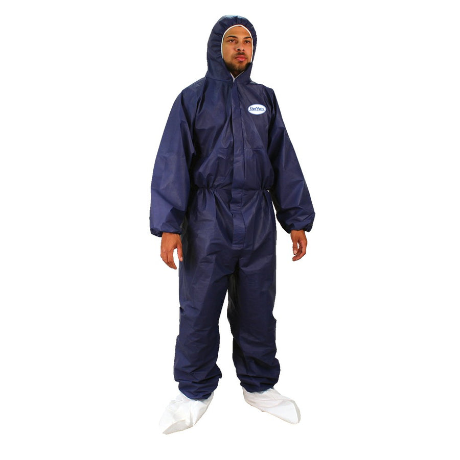 GenVec FR Disposable Hooded Coveralls Work Wear - Cleanflow