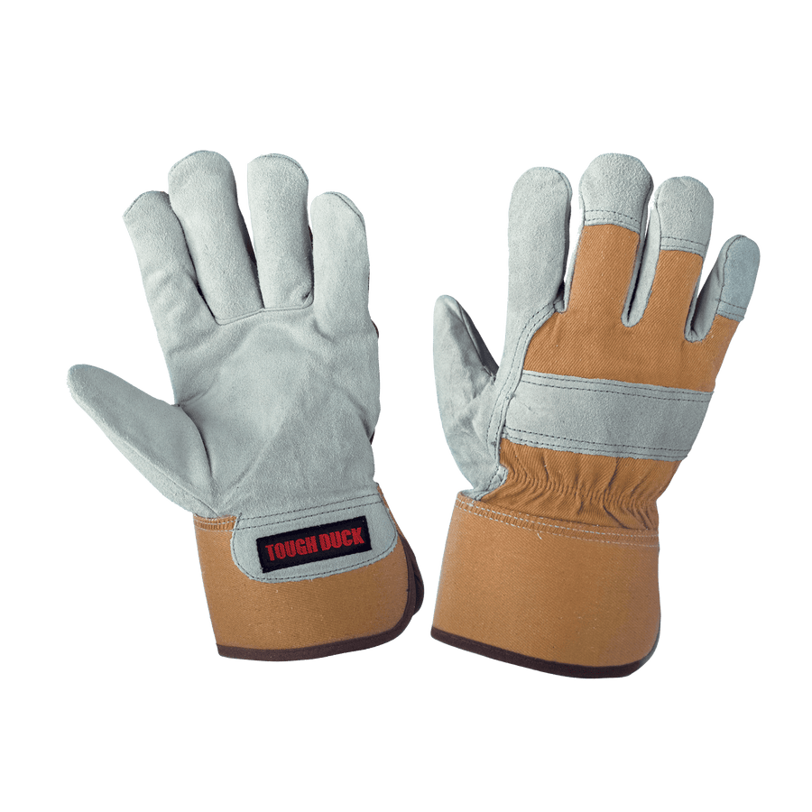Tough Duck Pile Lined Split Leather Winter Work Gloves | M-2XL Work Gloves and Hats - Cleanflow