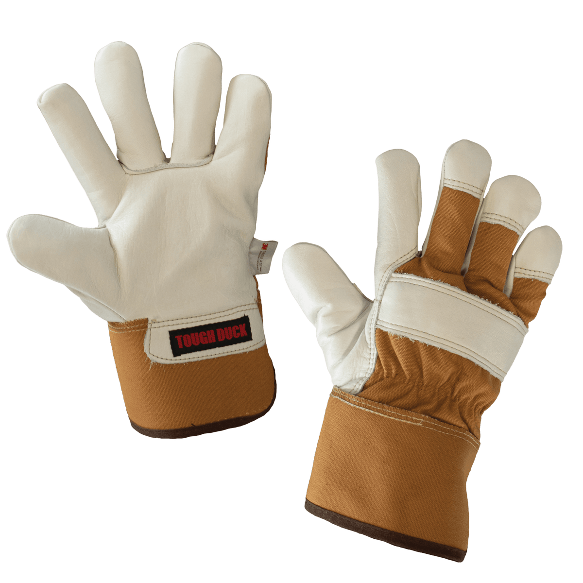 Tough Duck Pile Lined Premium Cowgrain Leather Winter Work Gloves | Limited Size Selection Work Gloves and Hats - Cleanflow
