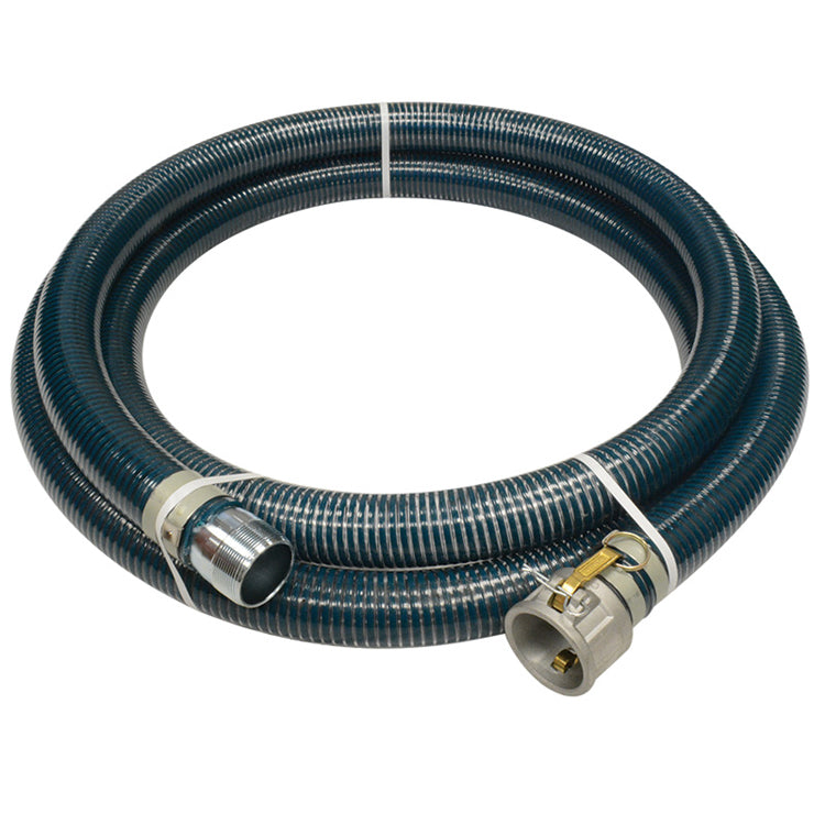 Green PVC Pump Suction Hose Assemblies Hose and Fittings - Cleanflow