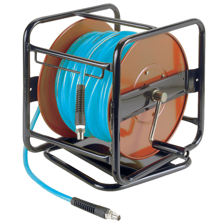Reinforced Polyurethane Reel Mounted Air Hose Assemblies Facility Equipment - Cleanflow