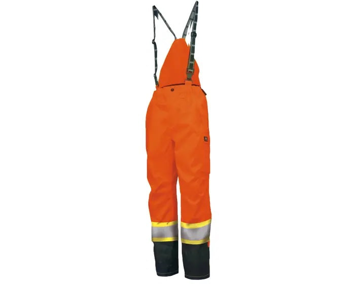 Helly Hansen Potsdam Hi-Vis Winter Bib Pants | Orange  | Small - 5XLarge Hi Vis Work Wear - Cleanflow