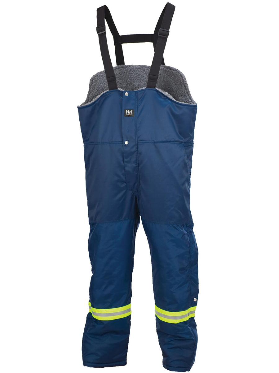 Helly Hansen Thompson Hi-Vis Winter Bib Overalls | Navy | Small - 5XLarge Hi Vis Work Wear - Cleanflow