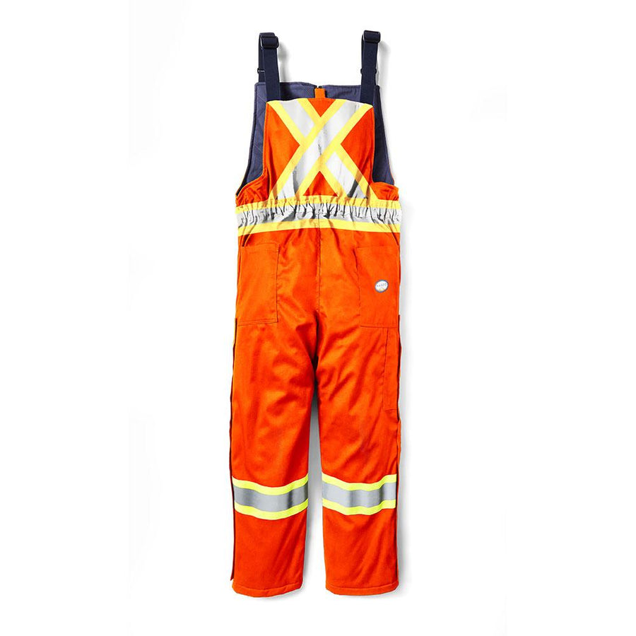 Rasco FR Hi-Vis Insulated Westex AllOut Winter Bib Overalls | Orange | S-3XL Flame Resistant Work Wear - Cleanflow