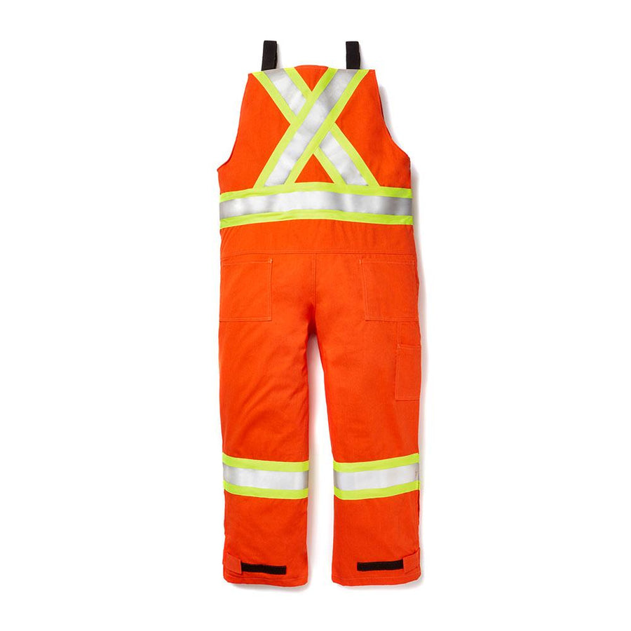 Rasco FR Unlined Hi-Vis Bib Overalls | Orange | S - 3XL Regular | M - 3XL Tall