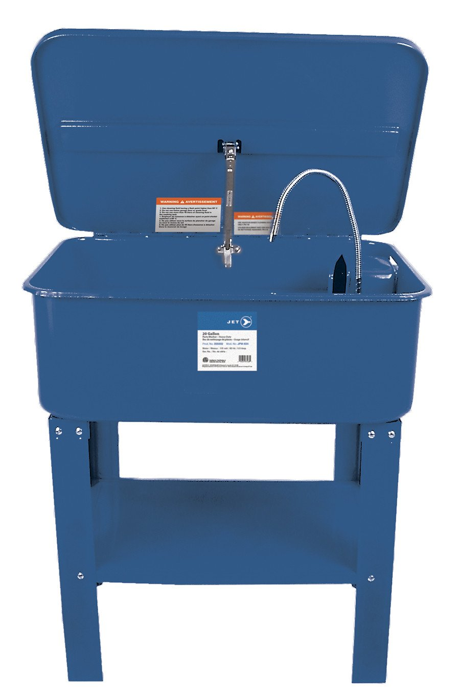 Jet JPW-20 Heavy Duty Parts Washer | 20 Gallon Automotive Tools - Cleanflow